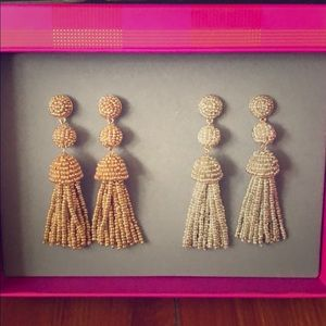 NWT Baublebar Set of Tassel Earrings